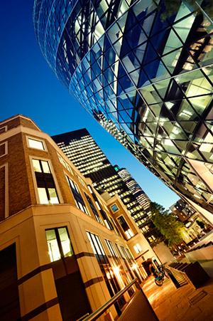 large, expensive office buildings in London